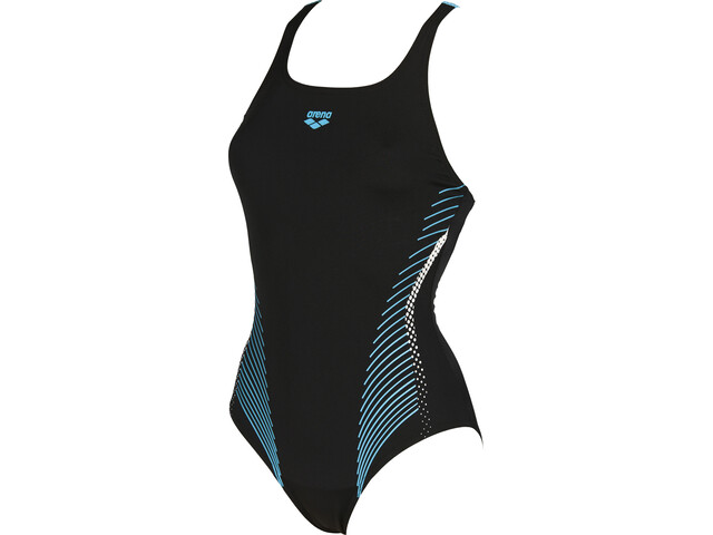 arena Fluids Costume da bagno intero Donna, black-sea blue